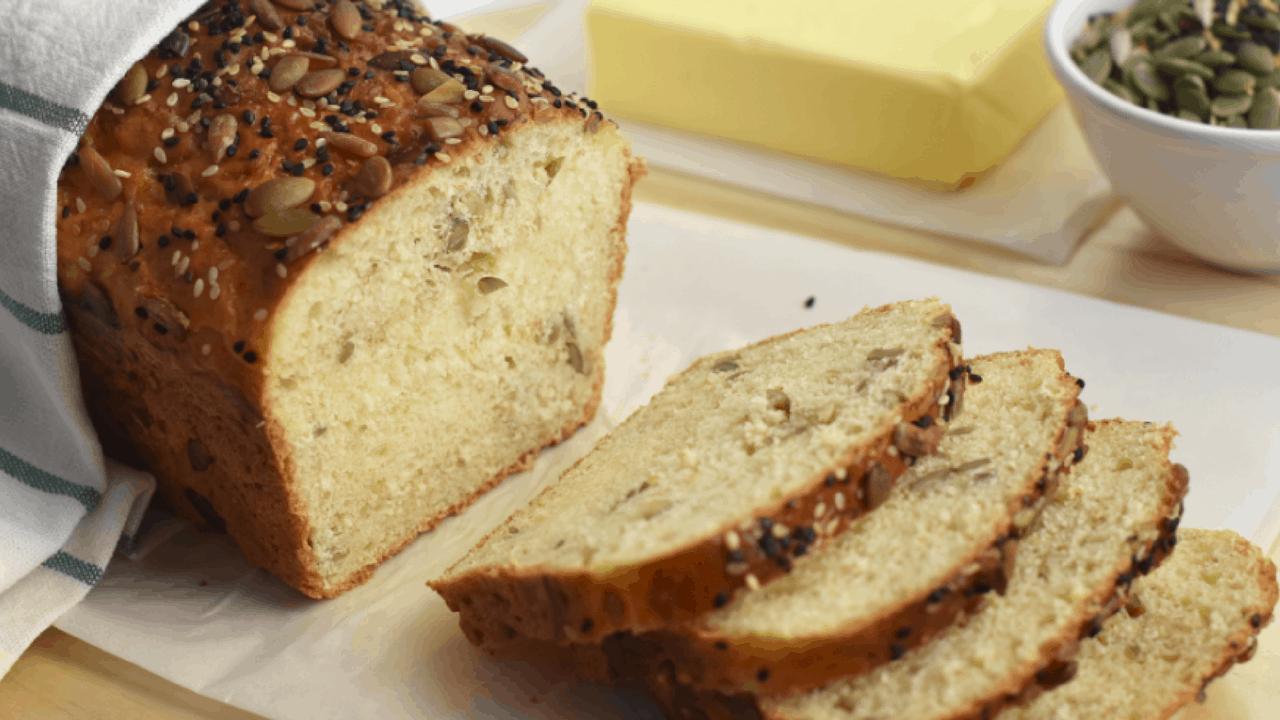 No knead multigrain bread