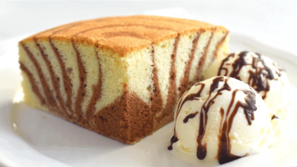 zebra cake made without baking powder or baking soda