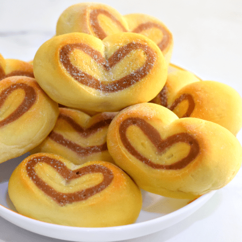 Heart shaped dinner rolls