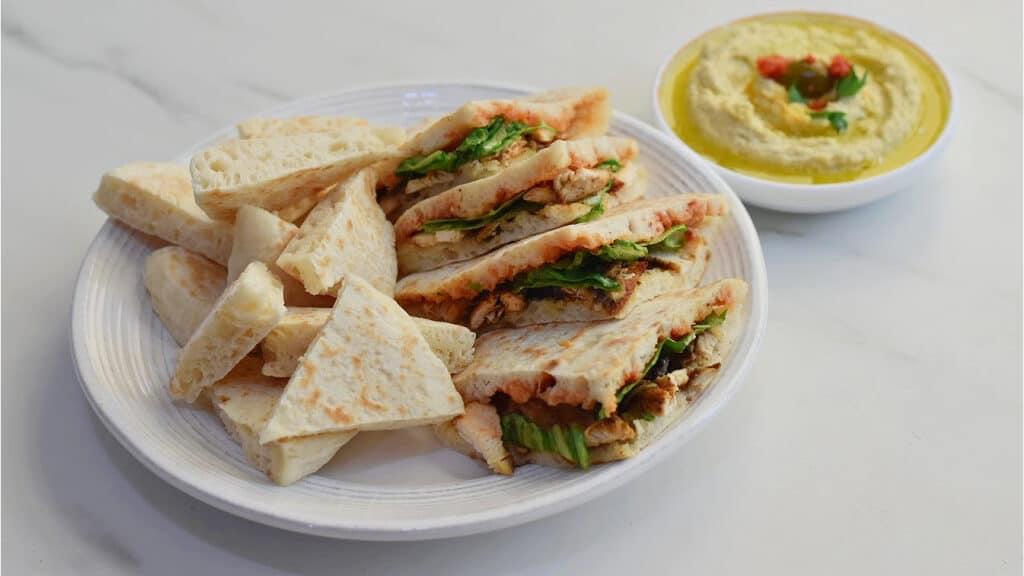 Turkish Flatbread as sandwich
