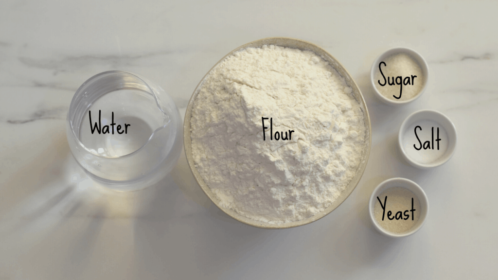 Turkish Flatbread ingredients