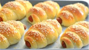 Easy Sausage Buns Recipe | Hot dog buns Recipe