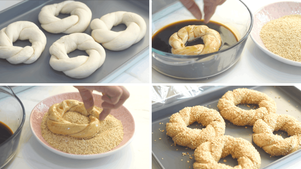 How to shape simit bread