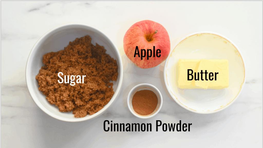 cinnamon apple pull apart bread filling ingredients